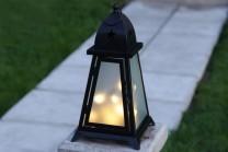 Fyris Utelykta med LED-lampor Svart med stjärnor, 38x20cm.
