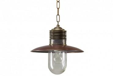 Lampa Ampere koppar/brons, handtillverkad taklampa i koppar och brons. Kopparlampa i industristil! Bredd: 31 cm i diameter.