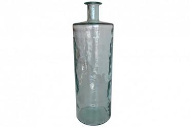 Vas Gladsax Stor. Vacker vas i färgat glas. Höjd 75 cm.