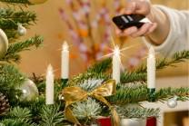Trådlösa julgransljus med fjärrkontroll, Mini 10 st. Slipp trassel med sladdar - praktisk sladdlös julgransbelysning med små LED-ljus! Antal: 10 st ljus.