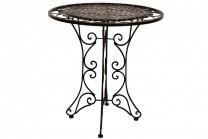 Cafébord Totra Romantik svart, runt bord i svart metall. Mått: 73 cm i diameter.