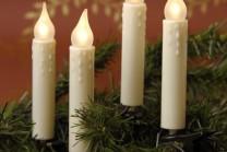 Julgransbelysning för inomhusbruk med 16 romantic LED lampor. LED lamporna håller 20 000 drifttimmar och drar en bråkdel i ström.