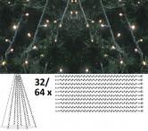 Granpaket LED 3 - Komplett paket med LED-ljusdekoration för gran 15 m, utomhus.