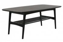 Soffbord Maja, stilrent vardagsrumsbord i svart. Storlek 110x60.
