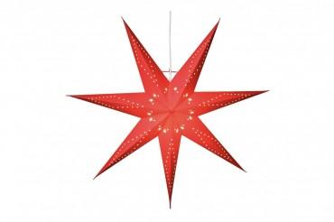 Adventsstjärna Katabo i rött, mått 70 cm. Röd julstjärna komplett med kabel och lamphållare, 1-pack.