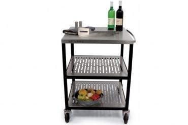 Outstanding utekök Module Servering, exklusiv serveringsdel i rostfritt stål och svart stål.