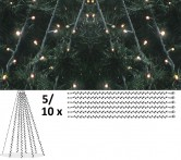 Granpaket LED 1 - Komplett paket med LED-ljusdekoration för gran 5 m, utomhus.