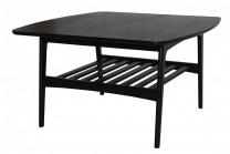 Soffbord Maja, stilrent vardagsrumsbord i svart. Storlek 80x80.