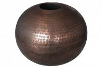 Vas Stenkumla Koppar. Hamrad aluminium i koppar färg. Diameter 35 cm.